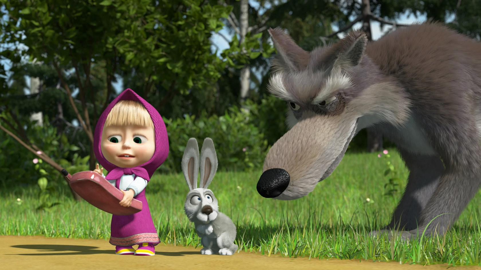 И медведь девочка заяц волк телефон