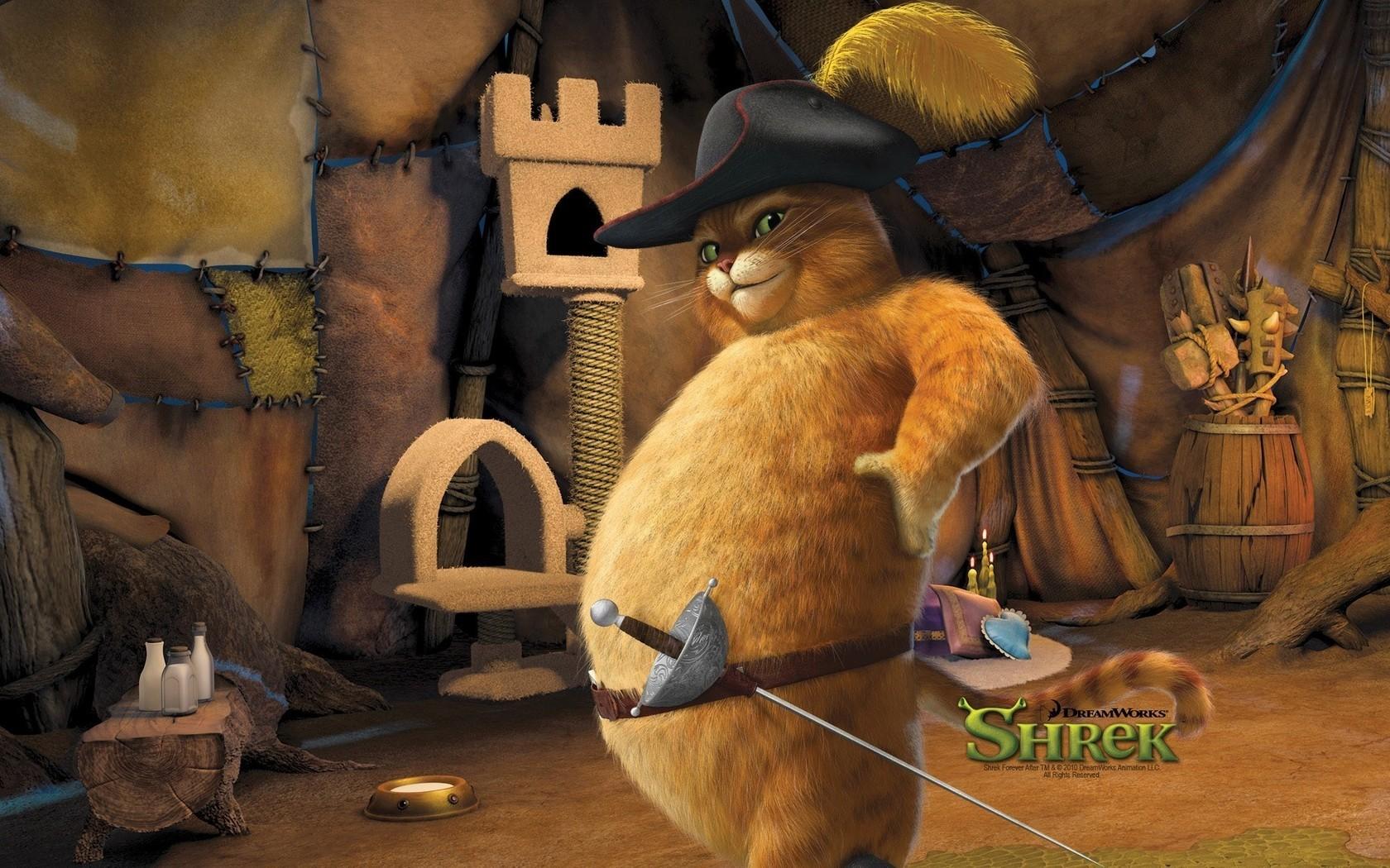 Картинка из фильма шрек кот в сапогах