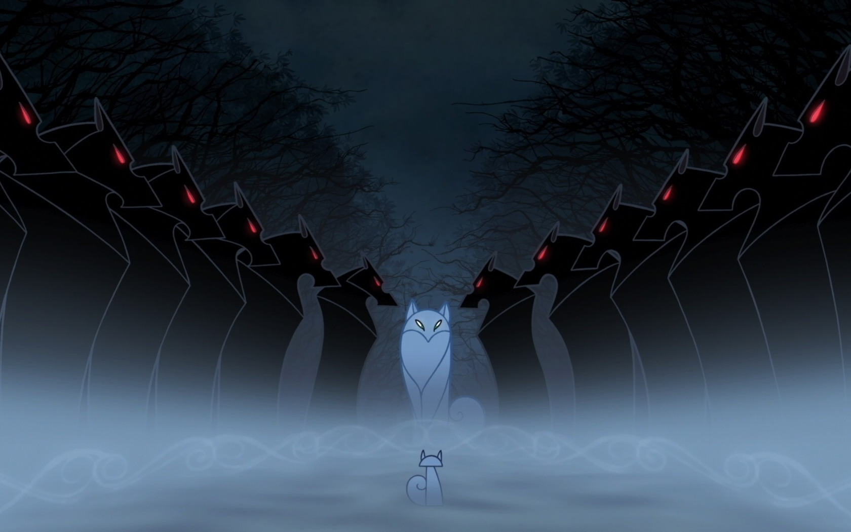 Тайна келлс фентези волки туман
